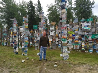 A very small section of the famous Sign Forest in Watson Lake, BC.