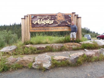 It's such a good feeling to finally reach Alaska, but there's more road and spectacular scenery ahead.