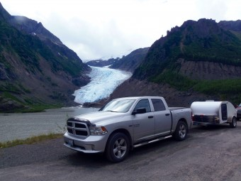 My Big Guy and Little Guy at Bear Glacier on the Stewart Hwy.